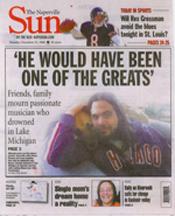 Bryan E. Guzman on Naperville Sun front page