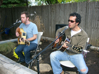Kevin Prchal and Dan Guzman at Bryan House Garden Dedication, 2009