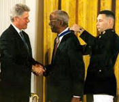 John Hope Franklin receives the Medal of Freedom
