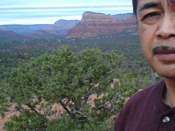 Richard R. Guzman at Bryan's tree in Sedona, AZ