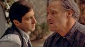 Marlon Brando and Al Pacino in The Godfather
