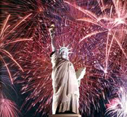 Fireworks with Statue of Liberty