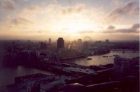 London sunset from dome of St. Paul's Cathedral