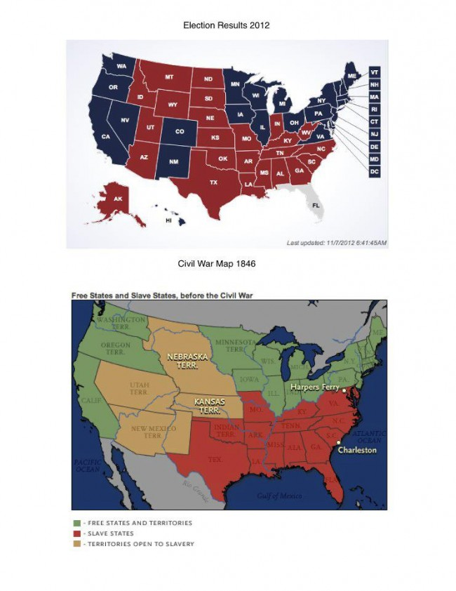 Red State, Blue State, Civil War