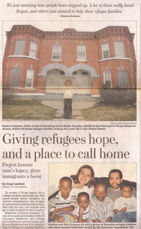 Bryan House: Giving refugees hope, and a place to call home, page 1