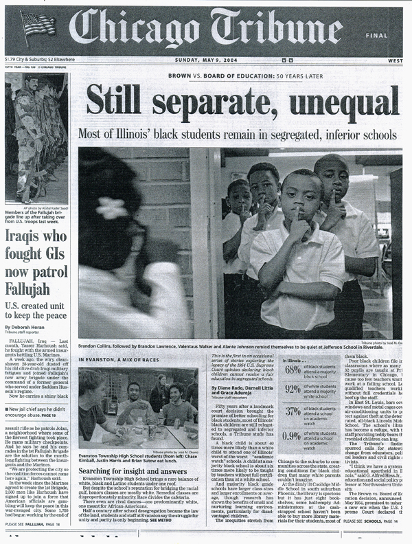 Still Separate, Unequal article in May 2004 Chicago Tribune