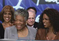 Maya Angelou with Oprah and Gayle King