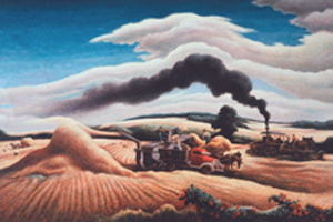 """Threshing"" by Thomas Hart Benton"