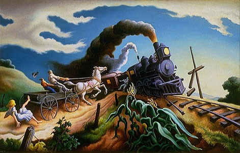 The Wreck of the Ole'97 by Thomas Hart Benton