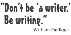 William Faulkner on writing