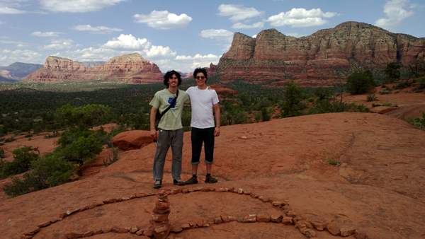 Daniel and Diego in Sedona, AZ