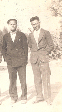 Felix Ayson (on right), in LA circa 1920.