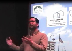 Rick Guzman speaks at North Central College, February 2014