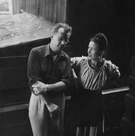 Nelson Algren and Simone de Beauvoir by Art Shay
