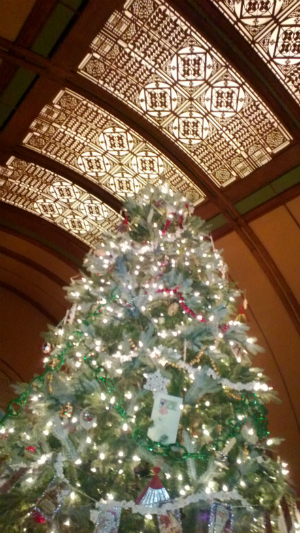 Christmas tree in the Children's Playroom of Frank Lloyd Wright's Home & Studio.