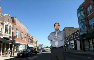 Rick Guzman on LaSalle St. in Aurora