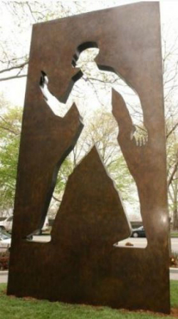 Invisible Man, a memorial to Ralph Ellison, Riverside Park, NYC.