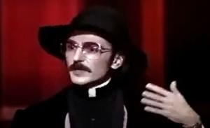 "Father Guido Sarducci (Dom Novello) explains his ""5-Minute University."""